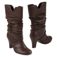 Womens Glaze by Adi Buckle Accent Slouchy Boot
