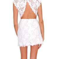 Pure Perfection Lace Dress - White