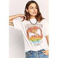 Led Zeppelin Tour 1975 Boyfriend Tee by Daydreamer LA