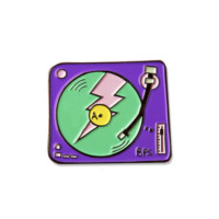 Record Player Enamel Pin