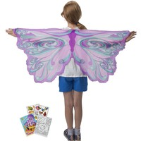 Douglas Toys Dreamy Dress-Ups 50579 Fairy Rainbow Lavender Wings with Coloring Book