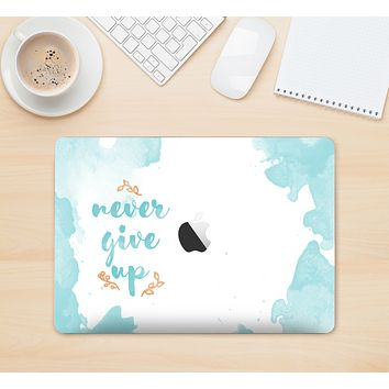 """The """"Never Give Up"""" Women's Skin Set for the Apple MacBook (All Versions Available)"""