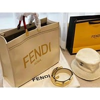 Fendi Newest Popular Women Leather Handbag Tote Crossbody Shoulder Bag Satchel