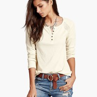 Lucky Brand Swit Mixed Thermal Womens