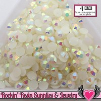 4mm 200 pcs AB Jelly Cream White Rhinestones
