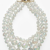 kate spade new york Give It A Swirl Triple Statement Necklace