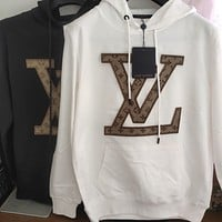 Louis Vuitton LV Men Women Fashion Hooded Top Pullover Sweatshirt Hoodie