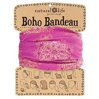 Magenta with Gold Mandala Boho Bandeau By Natural Life