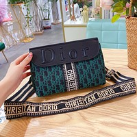 Dior wide shoulder bag women bag new shoulder messenger bag
