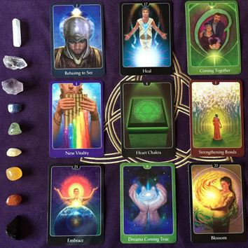 9 Card Relationship Reading, Tarot Card Reading, Psychic Tarot of the Heart, Psychic Advice, accurate and in-depth, email or etsy convo