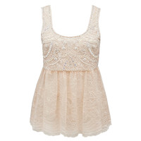 Renae Embellished Lace Tank - Forever New