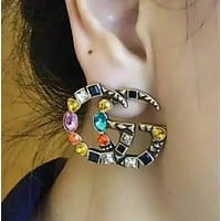 GUCCI  New fashion colorful diamond women earring accessories