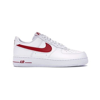 Nike Men's Air Force 1 Low '07 White Gym Red