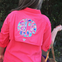 Columbia Fishing Shirt with Lilly Pulitzer Monogram