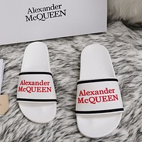 Alexander McQueen 2020 classic pattern flat shoes and slippers-7