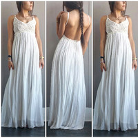 A Gorgeous Crochet Maxi in White