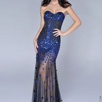 Nina Canacci 7020 Strapless Beaded Gown