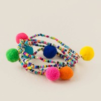 Matilda Pom Stretch Set Bracelet