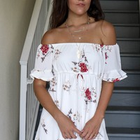 It Comes Naturally Ivory Floral Dress