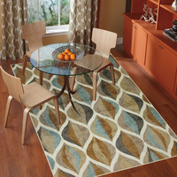 Mohawk Home New Wave Taupe Ornamental Ogee Area Rug