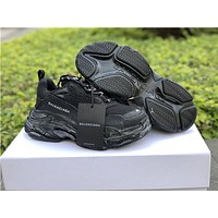 Balenciaga Triple S Trainers Black Warrior Sneakers 36-44