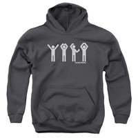 VILLAGE PEOPLE/YMCA-YOUTH PULL-OVER HOODIE - CHARCOAL -