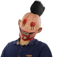 Pumpkin Themen Ornaments Scary Mask Halloween Simulation Clown Mask for Halloween Special Holiday Party Decoration