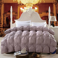 Goose Down filling+modal Cover Quilt Queen King Twin size Winter comforter/Blanket/Duvet Home/Hotel bedding Pillow Fast shipping
