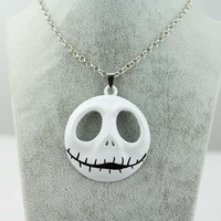 3 Colors Free Shipping Movie Nightmare Before Christmas Jack surrounding skull Necklace pendant for souvenirs