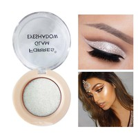 FaRRes Brand Shiny Eye Shadows Make Up Color Cosmetics Waterproof Pigment Smoky White Glitter Eyeshadow Single Palettes