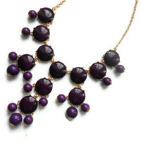 ready to ship purple Bubble j crew inspired bib statement necklace couture wedding christmas