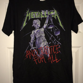 Sale!! Vintage METALLICA ..and justice for all T-shirt Metal band tee