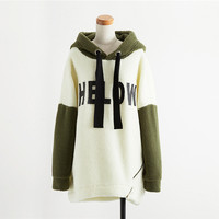 Off-White Graphic Tee Hooded Fur Coat