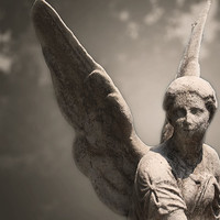 Angel Photograph - Religious, Catholic Wall Art, Fine Art Photography, Black and White, Mt. Auburn Cemetery, Gothic Canvas or Print