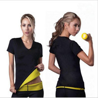 Women Shaper Spontaneous Heat Series Neoprene Nice igure Waist Slimming Vest Shaper Vest Tops  Long Sleeve Stretch Vest