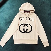 GUCCI Women Man Fashion Hooded Top Pullover Sweatshirt Hoodie