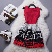 2015 new Promotions hot trendy cozy fashion women clothes casual sexy dress cute tank flower print ball gown girl dress = 1946874180