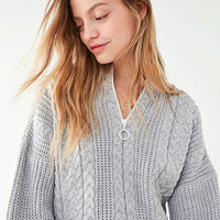 UO Cable Knit Half-Zip Sweater | Urban Outfitters
