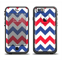 The Patriotic Chevron Pattern Apple iPhone 6/6s Plus LifeProof Fre Case Skin Set