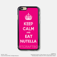 Keep calm and eat nutella Free Shipping iPhone 6 6Plus case iPhone 5s case iPhone 5C case 147