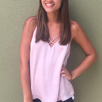 Summer Valley Top- Blush