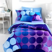 Dot Allure 3 Piece Twin Comforter Set - Bed in a Bag - Bed & Bath - Macy's