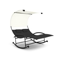Outdoor Double Chaise Rocker with Canopy - Free Shipping