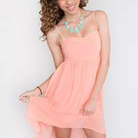 Gleaming Spring Dress - Peach