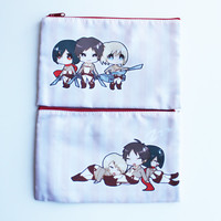 Attack on Titan Double Sided Cosmetic Bag Pencil Case