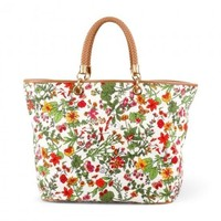 Floral Printed Canvas Tote from C. Wonder | Beso.com