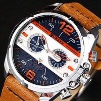 Watches Men Luxury Brand Army Military Watch Leather Sport Watches Quartz Men Wristwatches Male Clock Man