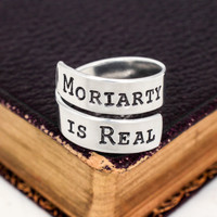Moriarty Is Real - Sherlock - Adjustable Aluminum Wrap Ring