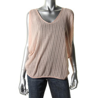 Fluxus Womens Knit Cold Shoulder Casual Top