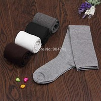100% New 1Pair Of 2017 New Fashion Women's Cotton Thigh High Over The Knee Socks Long Cotton Stockings For Women Ladies